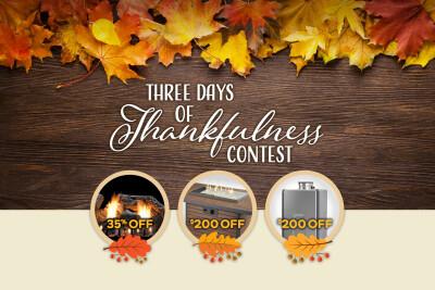 Three Days of Thankfulness