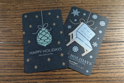 Holiday Postcard Invite