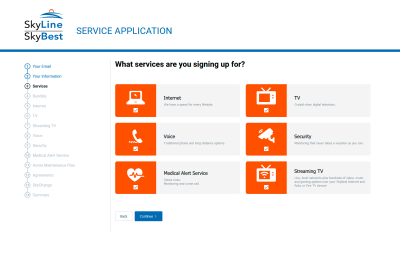 Apply for Service Application